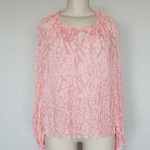 Diane von Furstenberg coral silk blouse-14